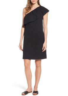 7 For All Mankind® One-Shoulder Ruffle Dress