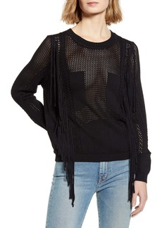 7 For All Mankind® Open Weave Fringe Sweater