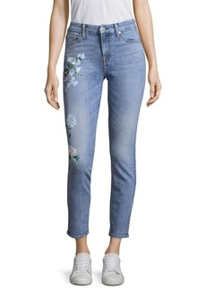 Painted Floral Jeans