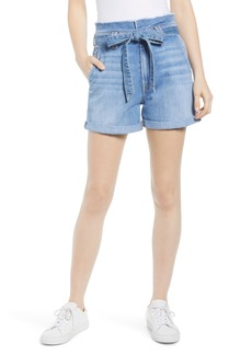 7 For All Mankind® Paperbag Waist Shorts (Bright Blue Jay)