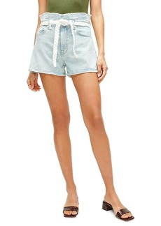 7 For All Mankind® Paperbag Waist Denim Shorts (Grand Street)