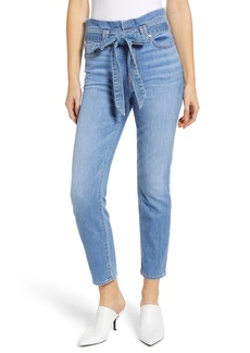 7 For All Mankind® Paperbag Waist Jeans (Bright Blue Jay)