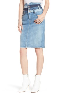 7 For All Mankind® Patchwork Denim Skirt