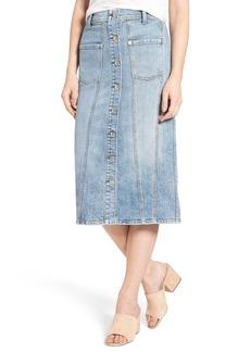 7 For All Mankind® Pieced Denim Skirt