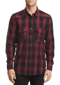 7 For All Mankind Plaid Regular Fit Western Shirt
