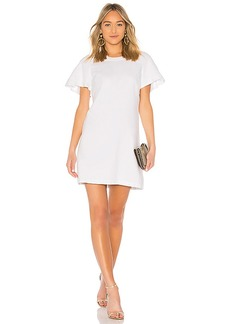 156685664 7 For All Mankind Popover Dress with Kick Sleeves in Bright Blue Jay ...