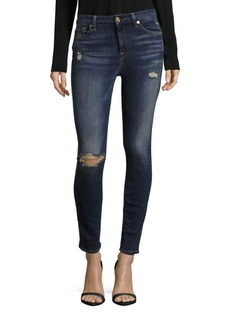 7 For All Mankind Pre-Distressed Skinny Jeans