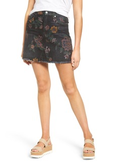 7 For All Mankind® Print Denim Miniskirt