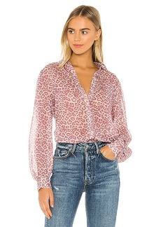 7 For All Mankind Puff Sleeve Button Up Shirt