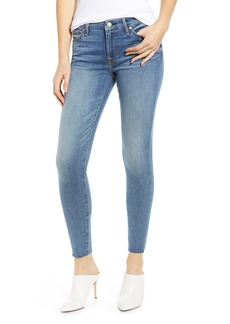 7 For All Mankind® Raw Hem Ankle Skinny Jeans (Pretty Medium Vintage)