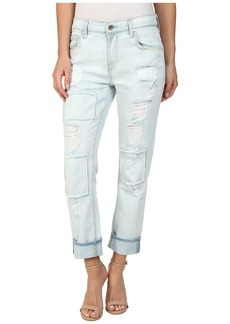 7 For All Mankind Relaxed Skinny in Patched/Destroyed Rigid Light Blue