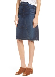 7 For All Mankind® Release Hem Denim Skirt (Eden Port)