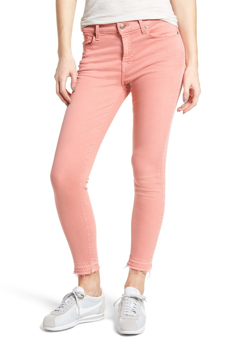 7 For All Mankind® Released Hem Ankle Skinny Jeans (Mauve)