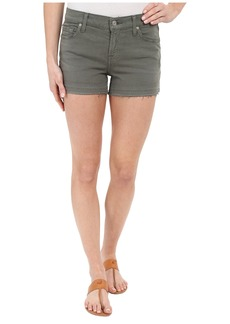 7 For All Mankind Released Hem Shorts in Fatigue