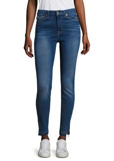 Released Hem Slit High-Waist Skinny Jeans