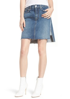 7 For All Mankind® Reverse Side Panel Step Hem Denim Skirt