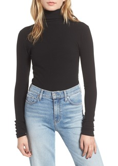 7 For All Mankind® Rib Knit Turtleneck Tee