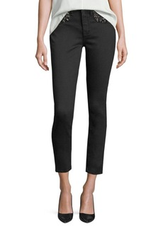 7 For All Mankind Riche Touch Embellished Skinny Ankle Jeans