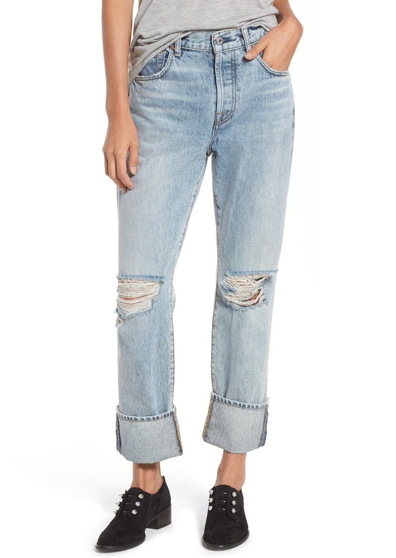 7 For All Mankind® Rickie High Waist Boyfriend Jeans (Mineral Desert Springs)