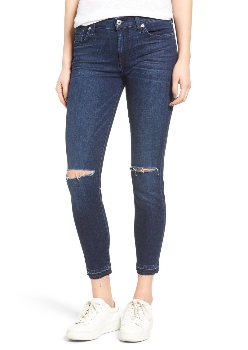 7 For All Mankind 7 For All Mankind® Ripped Ankle Skinny Jeans ...