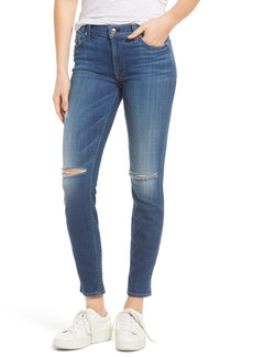 7 For All Mankind® Ripped Skinny Jeans (Barrier Reef Broken Twill 2)