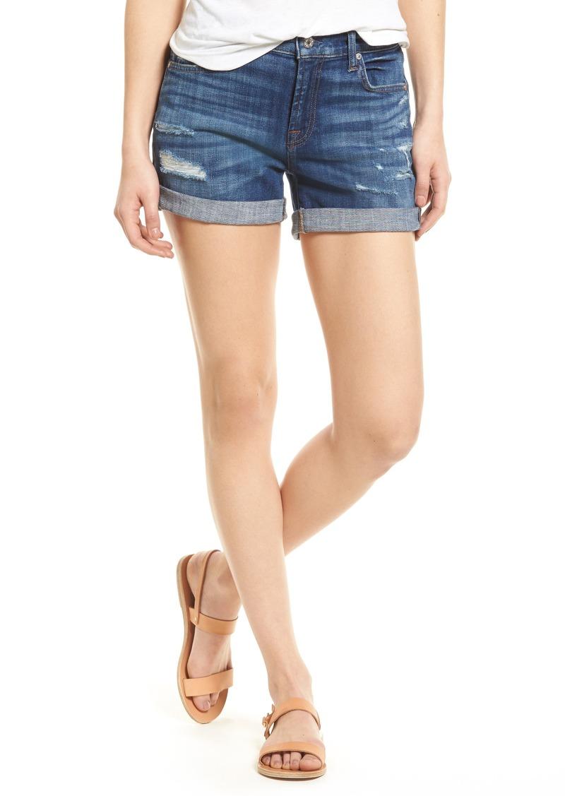 7 For All Mankind® Roll Cuff Denim Shorts