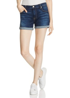 7 For All Mankind Roll Cuff Denim Shorts