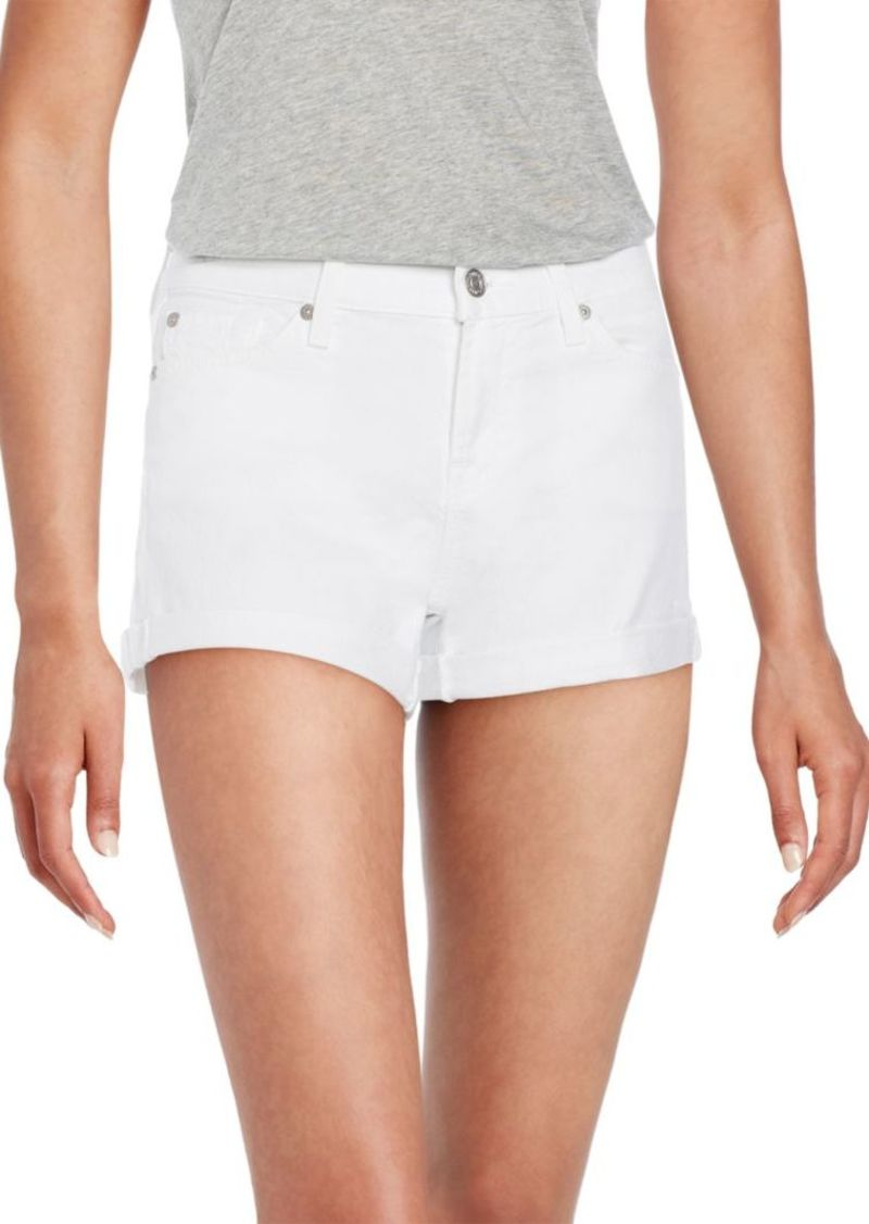 7 For All Mankind Roll-Up Cuffed Denim Shorts