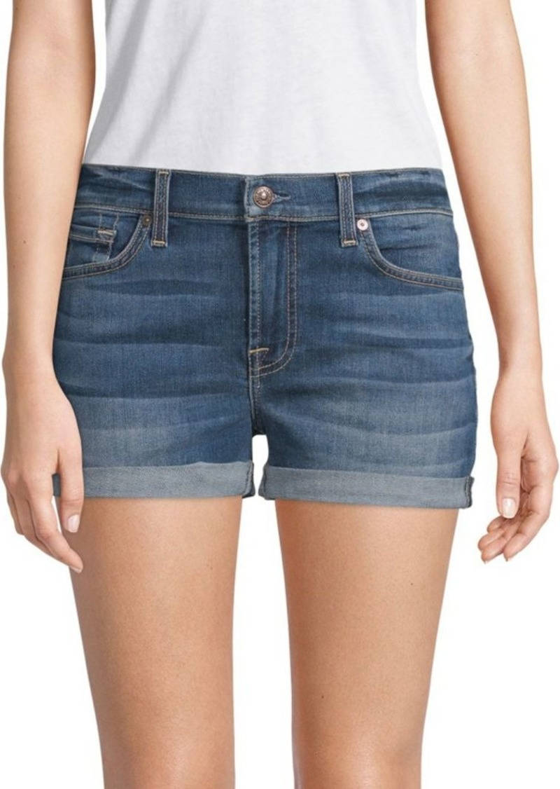 7 For All Mankind Roll-Up Denim Shorts