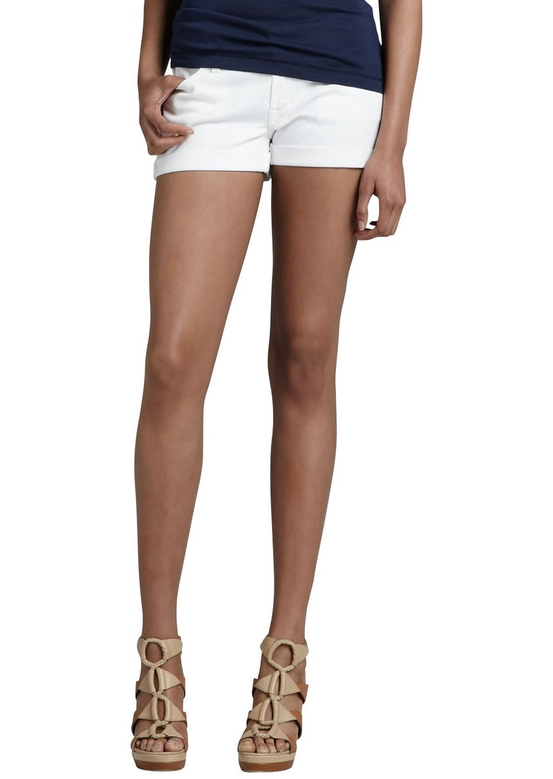 7 For All Mankind ROLL UP SHORT / CLEAN WHITE