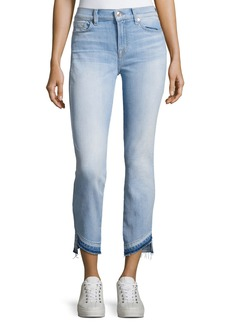 7 For All Mankind Roxanne Ankle Jeans W/ Asymmetrical Released Hem