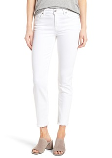 7 For All Mankind® Roxanne Ankle Straight Leg Jeans (White Fashion)