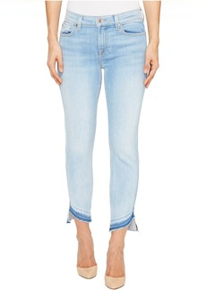 7 For All Mankind Roxanne Ankle w/ Angled Hem in Ocean Breeze
