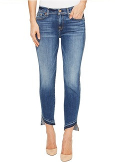 7 For All Mankind Roxanne Ankle w/ Angled Hem in Serratoga Bay