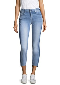 7 For All Mankind Roxanne Cropped Step Hem Jeans