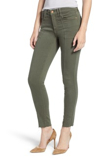 7 For All Mankind® Roxanne Paneled Ankle Slim Jeans (Army)