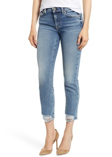 7 For All Mankind® Roxanne Rip Hem Ankle Slim Jeans (Luxe Vintage Muse)