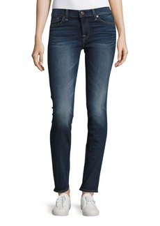 7 For All Mankind Roxanne Whiskered Ankle-Length Jeans