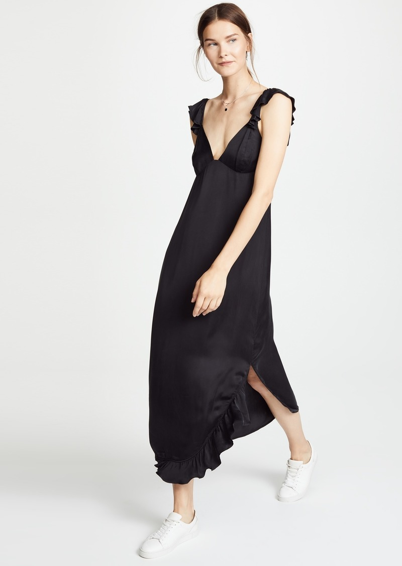 7 For All Mankind Ruffled Slip Dress