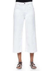 7 For All Mankind Runway Wide-Leg Denim Culottes