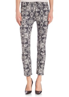 7 For All Mankind Sahara Tile Cropped Skinny Jeans