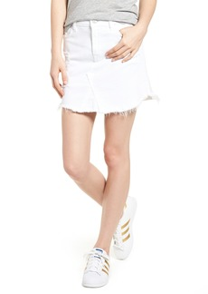 7 For All Mankind® Scallop Fray Hem Denim Skirt (White Fashion 3)