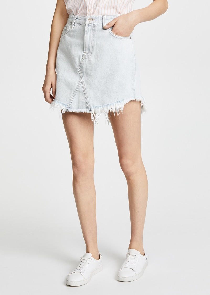 2ae30e5388 7 For All Mankind 7 For All Mankind Scallop Frayed Hem Skirt | Skirts