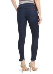 7 For All Mankind® Scallop Hem Ankle Skinny Jeans (Midnight Moon)