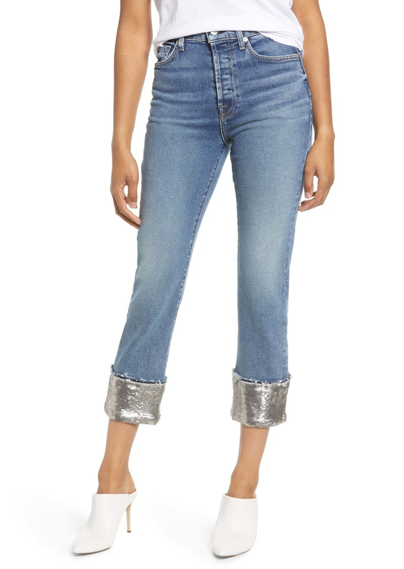 7 For All Mankind® Sequin Cuff Boyfriend Jeans (Luxe Vintage Muse)