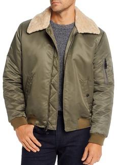 7 For All Mankind Sherpa Trim Regular Fit Bomber Jacket