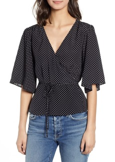 7 For All Mankind® Short Sleeve Wrap Top
