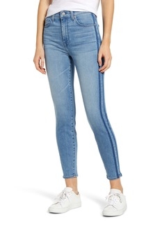 7 For All Mankind® Side Stripe High Waist Ankle Skinny Jeans (Bonaventure)