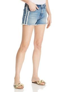 7 For All Mankind Side-Stripe Vintage Cutoff Denim Shorts in Sloan Vintage 2