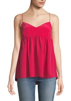 7 For All Mankind Silk Babydoll Camisole Top
